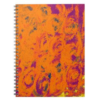 Diseño hermoso del color del otoño libreta