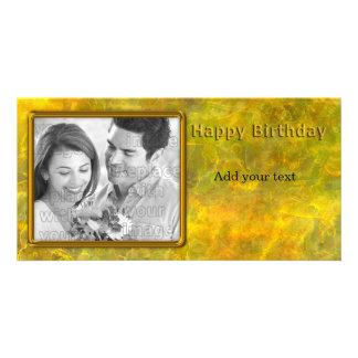 Diseño hermoso del cumpleaños tarjeta fotográfica