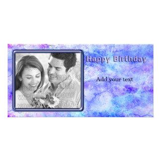 Diseño hermoso del cumpleaños tarjetas con fotos personalizadas