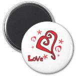 Diseño hermoso del día de San Valentín del corazón Imán Para Frigorifico