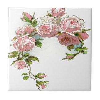 Diseño hermoso del rosa azulejo cuadrado pequeño