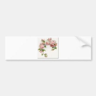 Diseño hermoso del rosa etiqueta de parachoque