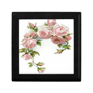 Diseño hermoso del rosa joyero cuadrado pequeño
