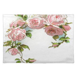 Diseño hermoso del rosa manteles individuales