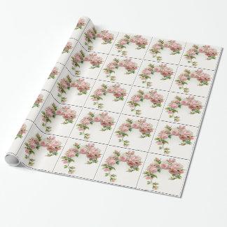 Diseño hermoso del rosa papel de regalo