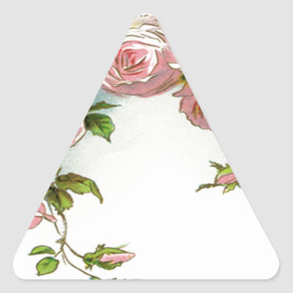 Diseño hermoso del rosa pegatina triangular