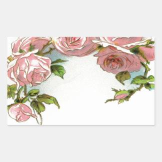 Diseño hermoso del rosa pegatina rectangular