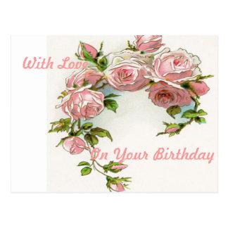 Diseño hermoso del rosa postales