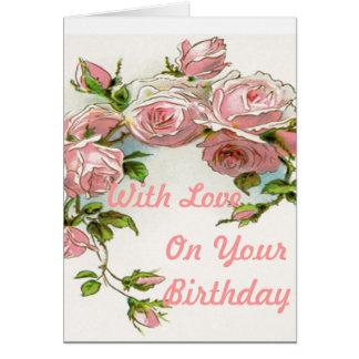 Diseño hermoso del rosa tarjeta de felicitación