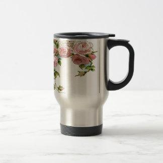 Diseño hermoso del rosa taza térmica