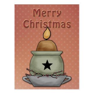 Diseño hermoso, festivo de la vela postal