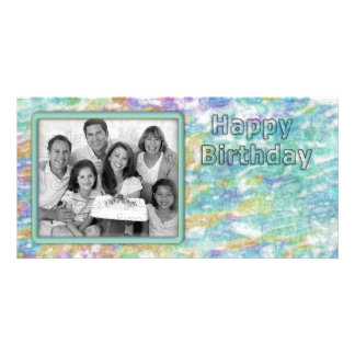 Diseño hermoso, único tarjeta personal con foto