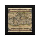 Diseño histórico del atlas del mapa del mundo del  caja de joyas