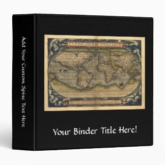 """Diseño histórico del atlas del mapa del mundo del carpeta 1 1/2"""""""