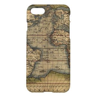 Diseño histórico del atlas del mapa del mundo del funda para iPhone 7