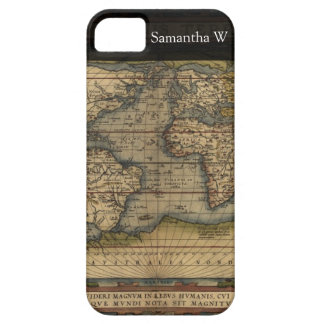 Diseño histórico del atlas del mapa del mundo del iPhone 5 fundas