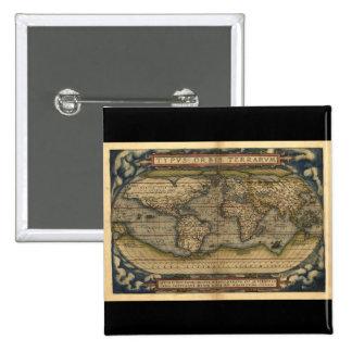 Diseño histórico del atlas del mapa del mundo del  pins
