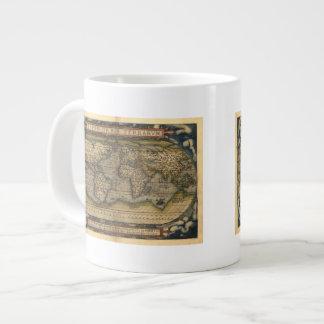 Diseño histórico del atlas del mapa del mundo del  taza jumbo