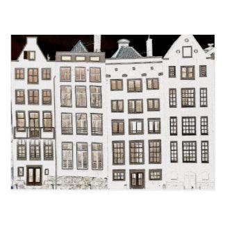 Diseño holandés de las casas del canal tarjeta postal