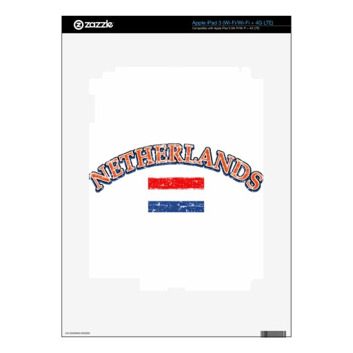 Diseño holandés del fútbol iPad 3 skin