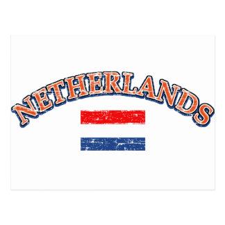 Diseño holandés del fútbol postales