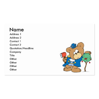 diseño honesto del oso de peluche del día de los tarjetas de visita