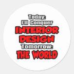 Diseño hoy interior… mañana pegatina redonda
