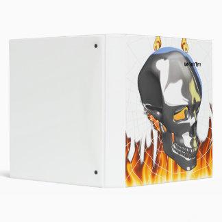 """Diseño humano 1 del cráneo del cromo con el fuego carpeta 1"""""""
