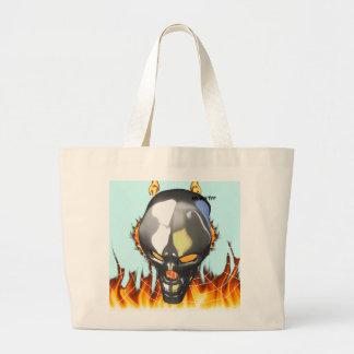 Diseño humano 2 del cráneo del cromo con el fuego  bolsa