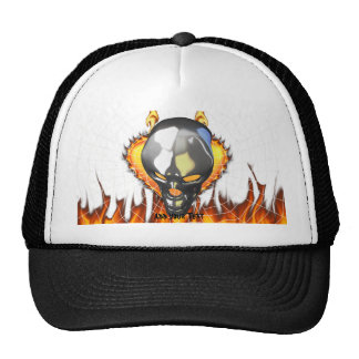 Diseño humano 2 del cráneo del cromo con el fuego gorro
