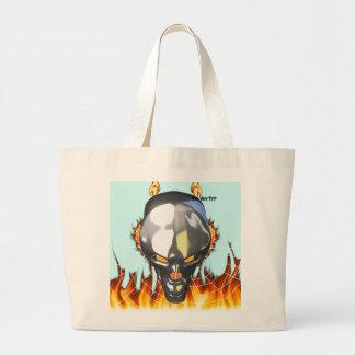 Diseño humano 3 del cráneo del cromo con el fuego  bolsas de mano