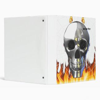 """Diseño humano 4 del cráneo del cromo con el fuego carpeta 1"""""""