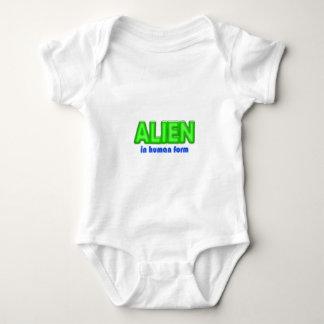 Diseño humano EXTRANJERO del traje de Halloween de Body Para Bebé