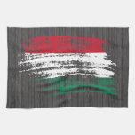 Diseño húngaro fresco de la bandera toallas de mano