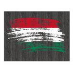 Diseño húngaro fresco de la bandera postal
