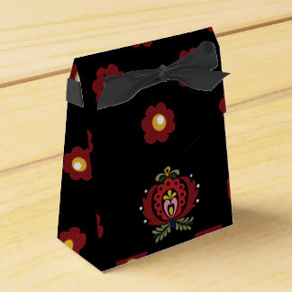 Diseño húngaro negro de la gente caja para regalos de fiestas
