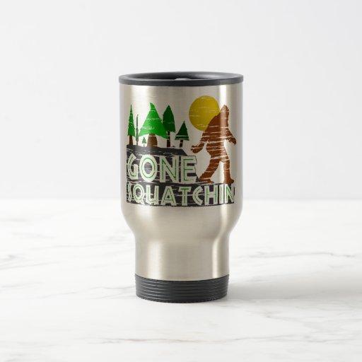 Diseño ido original de Squatchin Tazas De Café