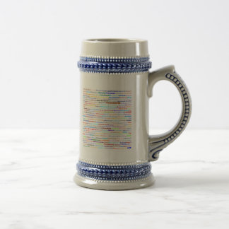Diseño II Stein del texto de Mackenzie Jarra De Cerveza