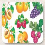 Diseño impresionante de la selección de la fruta posavasos de bebida
