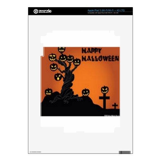 Diseño impresionante del árbol de Halloween iPad 3 Pegatina Skin