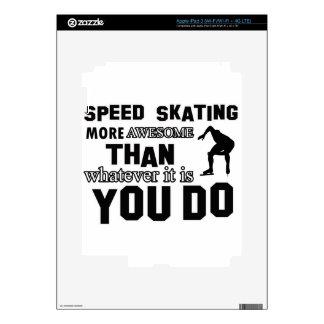 Diseño impresionante del patinaje de velocidad iPad 3 pegatina skin