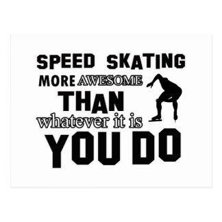 Diseño impresionante del patinaje de velocidad postales