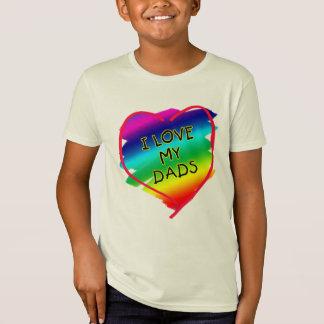 Diseño impresionante para los papás gay playera