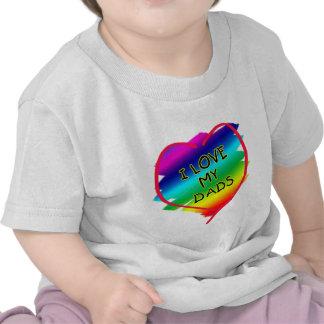 Diseño impresionante para los papás gay camiseta
