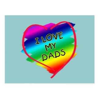 Diseño impresionante para los papás gay postal