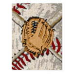 Diseño impresionista del béisbol postales
