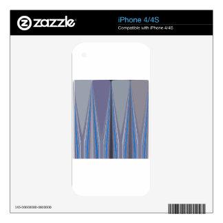 Diseño inconsútil azul fresco iPhone 4 skins