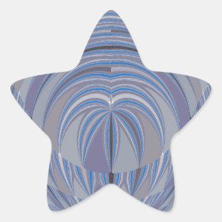 Diseño inconsútil del corazón grande pegatina en forma de estrella