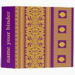 Diseño indio de la sari - carpeta púrpura