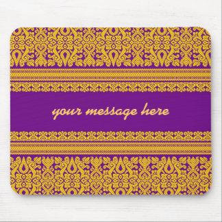 Diseño indio de la sari - Mousepad púrpura